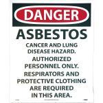 Danger Sign Asbestos 14 x 18