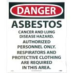 Danger Sign Asbestos 14 x 18