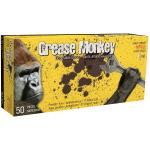 5555PF Grease Monkey 5 mil black nitrile gloves (box of 50) - Large