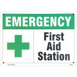 Sign, 14x10, Emergency, First Aid Station