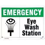Sign, 14x10, Emergency, Eye Wash Station