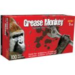 5554PF Grease Monkey 5 mil black nitrile gloves (box of 100) - Medium