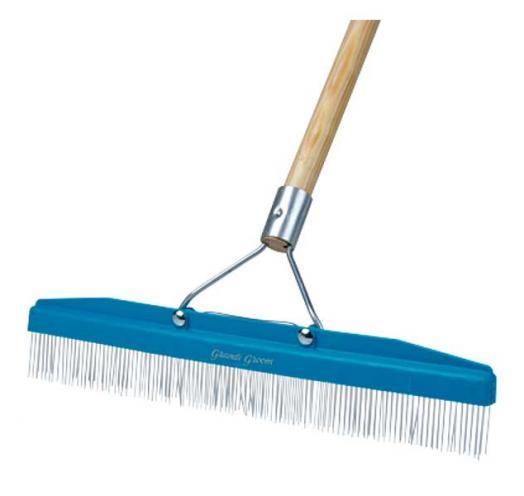 "AB24 Grandi Groomer 18"" Carpet Rake with handle"