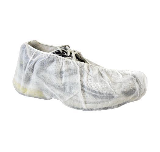 Polypropylene Shoe Covers, Skid Free Sole, White